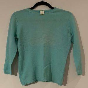 100% Cashmere Sweater J Crew Small S Turquoise